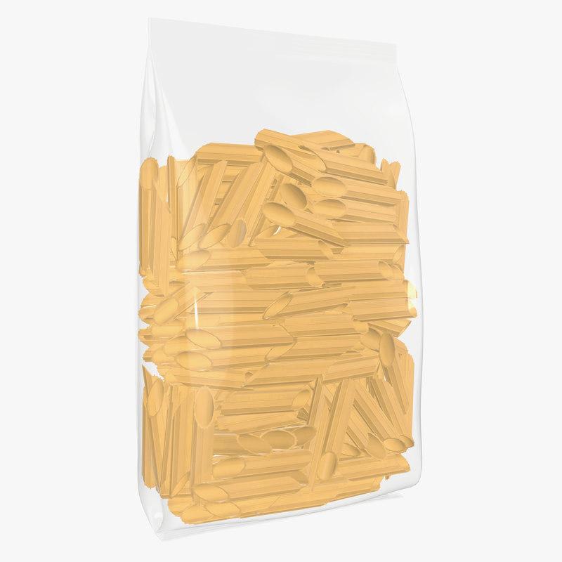 3D pasta plastic bag model