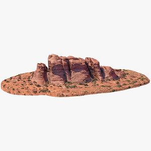 sandstone butte 12 3D model