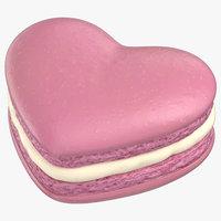 heart macaron 3D
