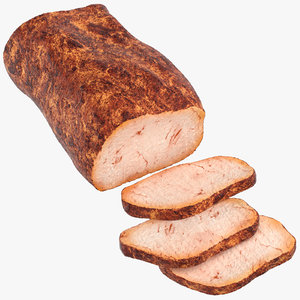 pork loin sliced 3D model
