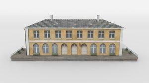 smalltown train station model