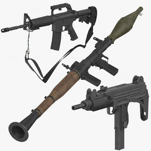 weapons m16 rifle 3D