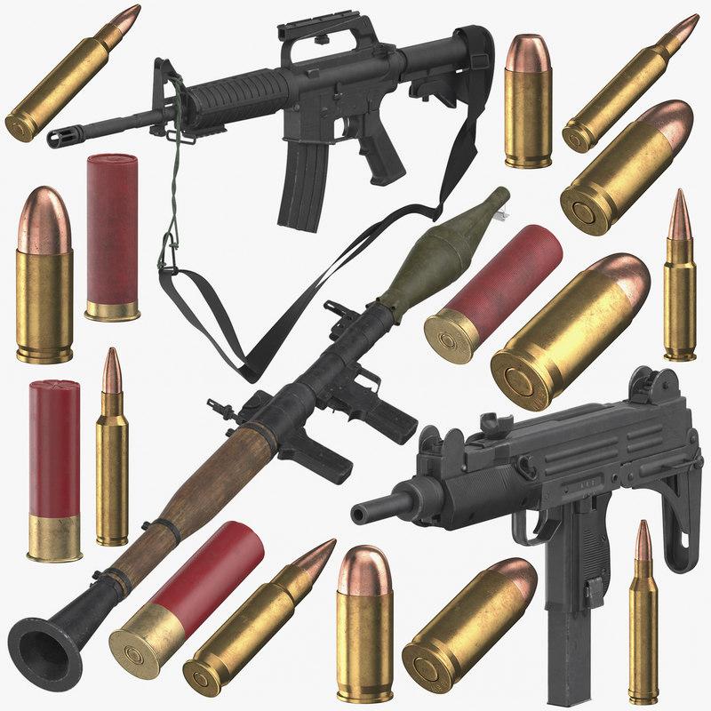 weapons bullets 3D model