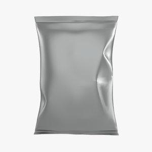 3D model chips pack potato