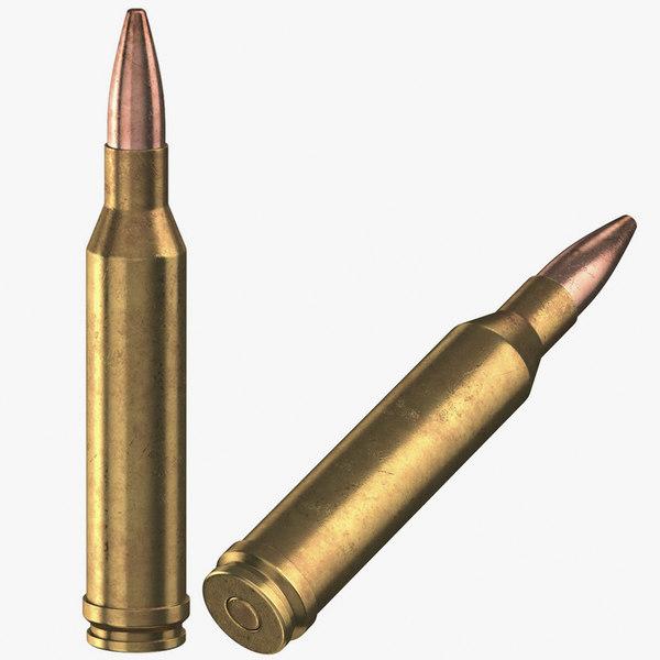 bullets 300 winchester 3D model