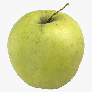 3D golden delicious apple 01