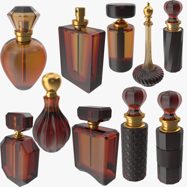 photorealistic perfume bottle 03 model