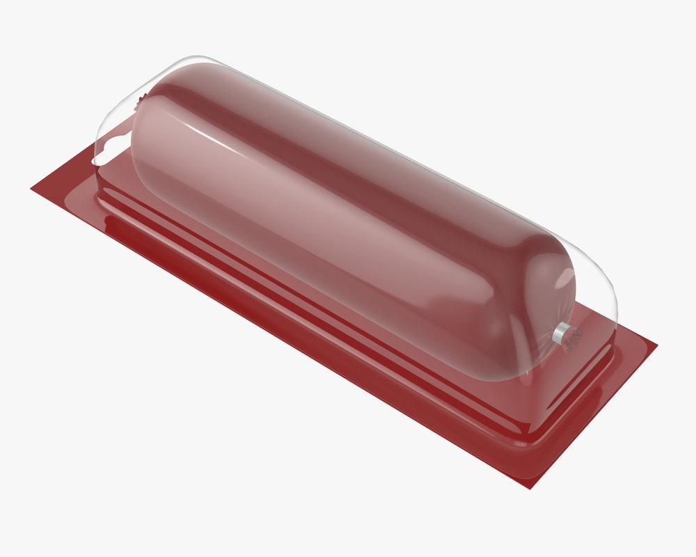 3D sausage plastic transparent model