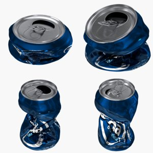 realistic crushed beverage cans max