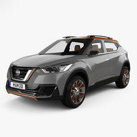 Nissan Kicks concept with HQ interior 2014
