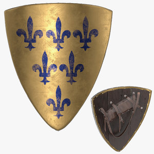 knight shield 3D model