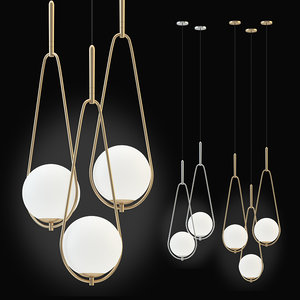 3D kare pendant lamp loop