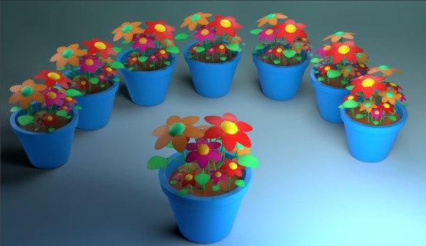 3D cartoon flower pot