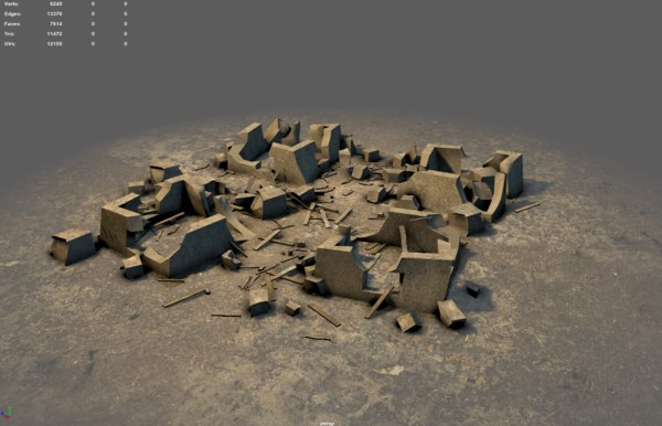 3D destroyed unity realtime model