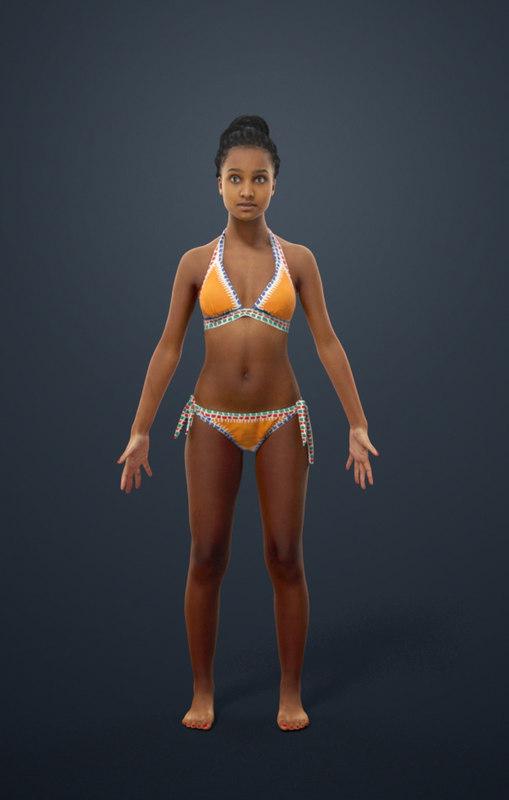 Playa Traje Macy Baño Pose Mujer De Animada Incluido AparejadoBípedoCatPaseo A Africana 3AqjL5R4