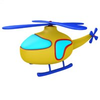 cartoon helicopter 3D
