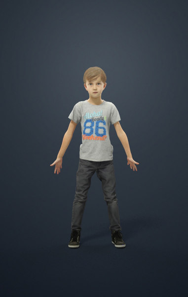 3D model rigged characters include biped