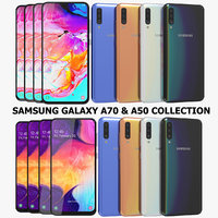 3D realistic samsung galaxy a70 model