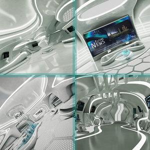sci-fi futuristic model