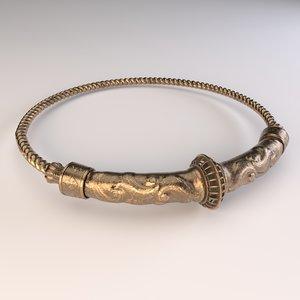 pbr gold bronze 3D