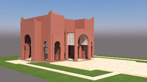 3D moroccan house marrakech traditional model