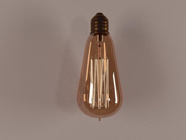 3D lamp edison