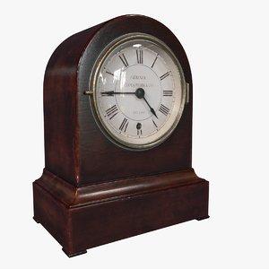 3D victorian mantel clock