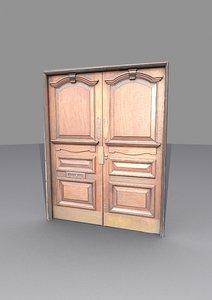 3D vintage door