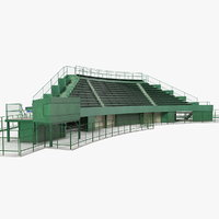 stadium seating tribune 3D