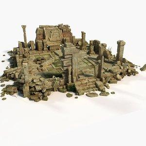 temple ruins 3D