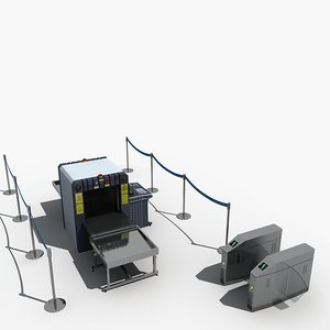 3D luggage scanner check machine