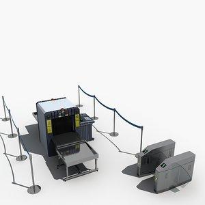 3D luggage scanner check machine