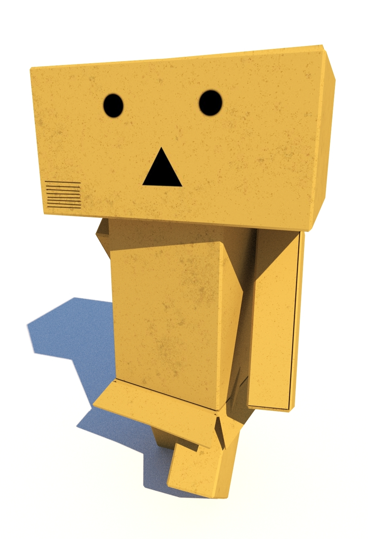 rigged box man 3D model
