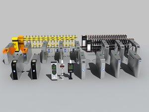 automatic gates 3D model