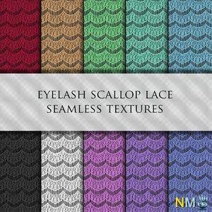 Eyelash Scallop Lace Seamless Textures