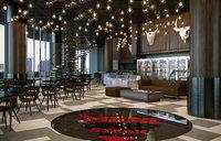 Realistic Restaurant Cafe Bar Interior