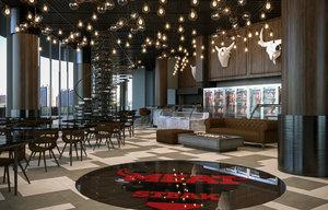 3D realistic restaurant cafe bar