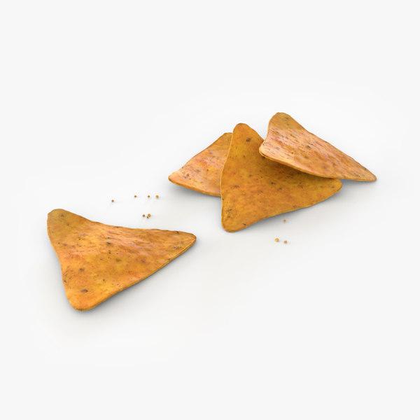 corn chips 3D model