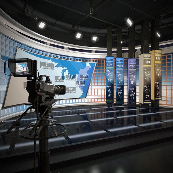 scene tv weather forecast 3D
