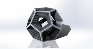 dodecagon pentagons 3D model