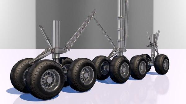 3D landing gear