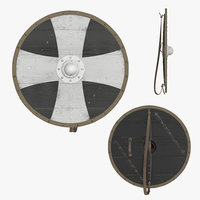 3D shield viking