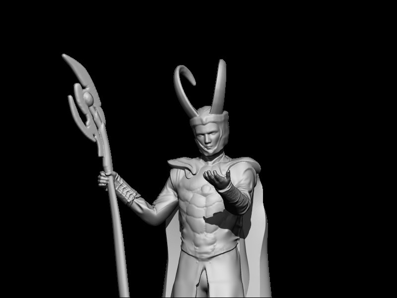 3D art statuette