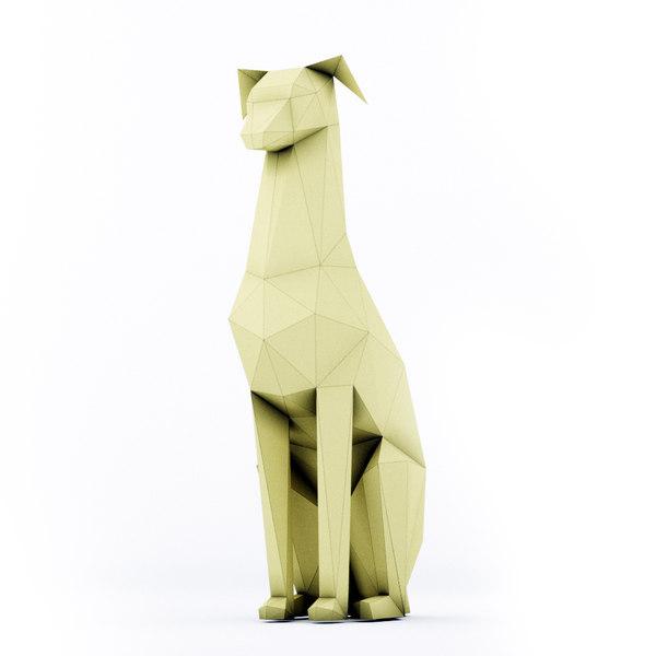 3D model dog doberman stl