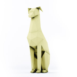 3D model dog doberman stl