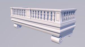 3D classic balcony