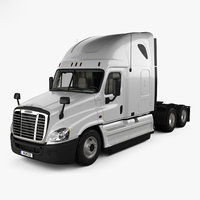 Freightliner Cascadia Sleeper Cab Tractor Truck with HQ interior 2007