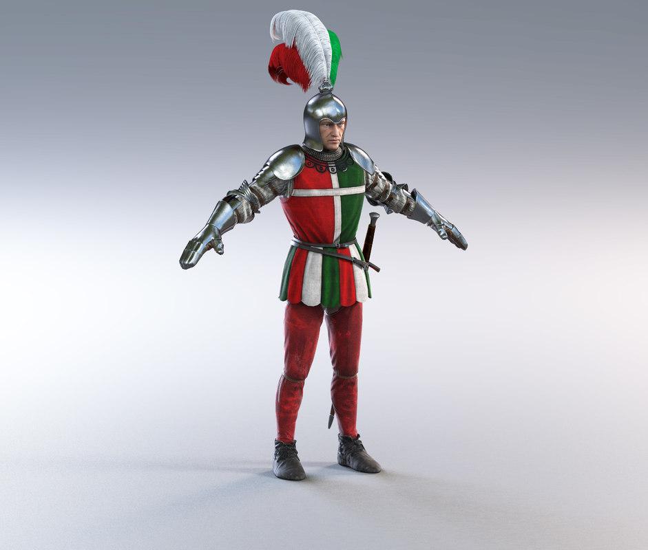 3D model scottish guard