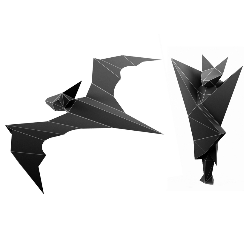 bats stl wrl 3D model