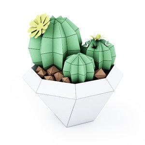 3D cactus stl wrl